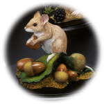 Country Artists Natural World Mouse Collecting Acorns