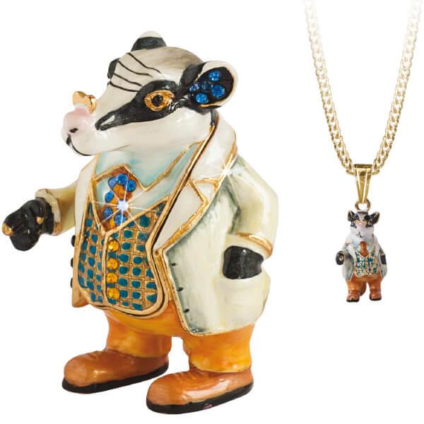 "Donkey /""Secrets/"" Enameled Pewter Trinket Box With Hidden Pendant Necklace Inside"