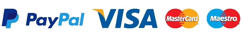 PayPal Visa Mastercard Maestro payments accepted